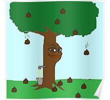 Pepe Piss and Poop tree Poster