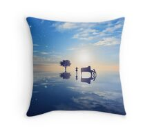 Your Lie In April Silhouette Throw Pillow