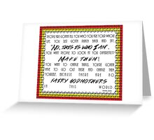 Gotta Punch Back Colored Border Greeting Card