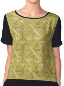 Sunshine and the Occult Chiffon Top