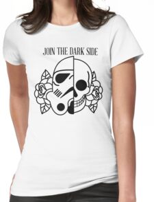 mix: helmet and a skull from mexico  Womens Fitted T-Shirt