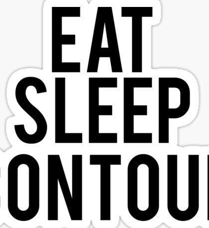 EAT SLEEP CONTOUR Sticker