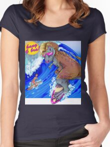 Surfin' USA . . . 68 Million Years Ago Women's Fitted Scoop T-Shirt