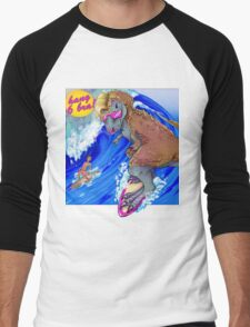 Surfin' USA . . . 68 Million Years Ago Men's Baseball ¾ T-Shirt