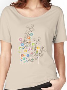 My Groovy Flower Garden Grows Women's Relaxed Fit T-Shirt