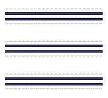 Just Perfect Wedding white Folk Retro Series with Fashion stripes Photographic Print