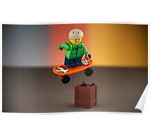 Skater jumping - Lego  Poster