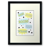 Batman - Bam, Boom, Wham Framed Print