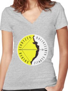 Swiss Luggage Label Women's Fitted V-Neck T-Shirt