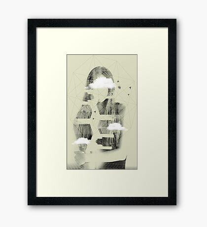 Facet Sky Framed Print