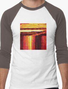 Waterfall at Sunset Men's Baseball ¾ T-Shirt