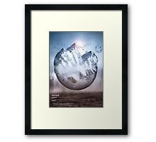 Surreal Mountain  Framed Print