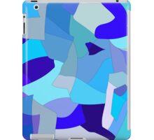 Blue Pieces Pattern iPad Case/Skin