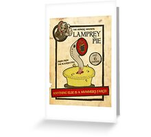 Lamprey Pie Greeting Card