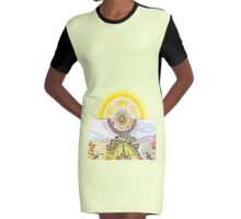 TABULA SMARAGDINA HERMETIS - The Emerald Tablet Graphic T-Shirt Dress