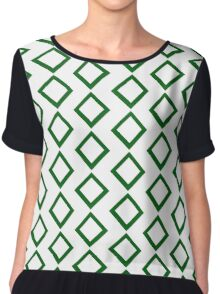 Circuit Inspired Diamond Chiffon Top
