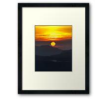 Adams Dawn, Sri Lanka Framed Print