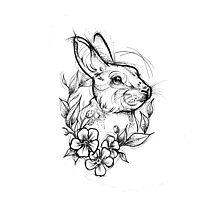Forest Rabbit Photographic Print
