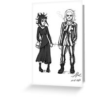 Cobweb and Stripes - cuffes Greeting Card