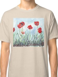 Poppies mean Spring! Classic T-Shirt