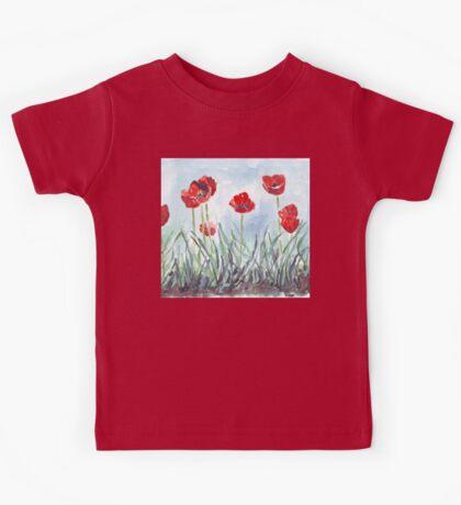 Poppies mean Spring! Kids Tee