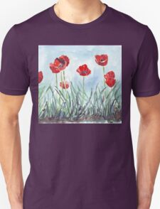 Poppies mean Spring! Unisex T-Shirt