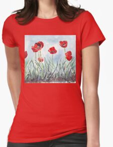 Poppies mean Spring! Womens Fitted T-Shirt