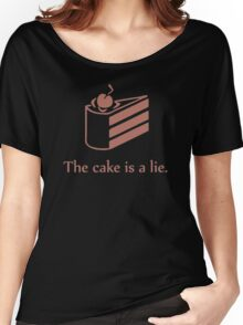 Cake is a Lie Women's Relaxed Fit T-Shirt