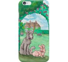 Country garden poodles iPhone Case/Skin