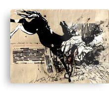 Dark Horse Vintage Collage Metal Print