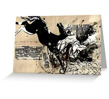 Dark Horse Vintage Collage Greeting Card
