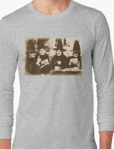 Witches Tea Party - sepia Long Sleeve T-Shirt