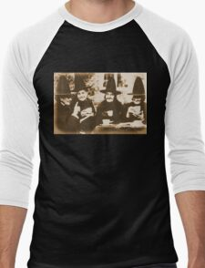 Witches Tea Party - sepia Men's Baseball ¾ T-Shirt