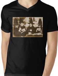 Witches Tea Party - sepia Mens V-Neck T-Shirt