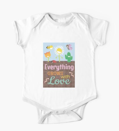 Everything Grows With Love One Piece - Short Sleeve