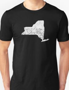 Distressed New York Silhouette T-Shirt