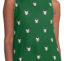 Boosh faces on green Contrast Tank