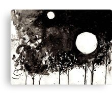 Surrealist Charcoal Landscape Canvas Print