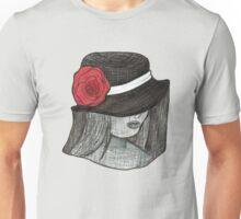 Gothic Hat Portrait Unisex T-Shirt