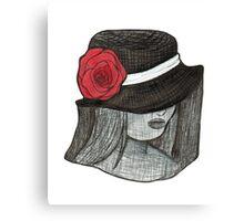 Gothic Hat Portrait Canvas Print