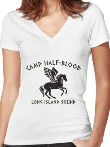 Camp Half Blood - Long Island sound  Women's Fitted V-Neck T-Shirt