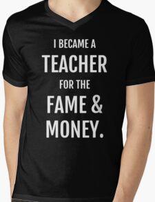 Fame & Money Mens V-Neck T-Shirt