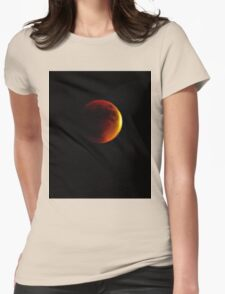 Lunar Eclipse Blood Moon on a Starry Night, San Diego, 09.27.2015 Womens Fitted T-Shirt
