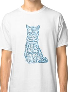 Tabby Cat in Nautical Color Classic T-Shirt