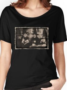 Witches Tea Party - old black/white Women's Relaxed Fit T-Shirt