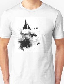 Ink Sailboat Unisex T-Shirt