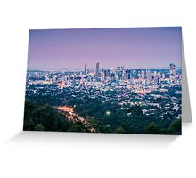 View of Brisbane City from Mount Coot-tha Greeting Card