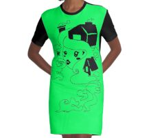 Smoke and clouds Graphic T-Shirt Dress