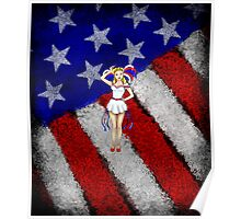 Fourth of July Lady Poster