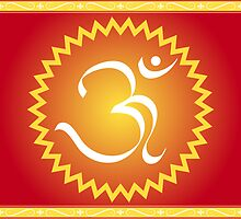 OM symbol with yellow star by cycreation